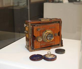 One of Rodoni's cameras, donated by Ian Rodoni, grand son of Thomas James Rodoni. (Photo: Naomi Stewart)