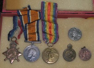 Tess McLeod (nee Rodoni) travelled all the way from Dorrigo to bring T.J. Rodoni's war medals could be part of the exhibition.