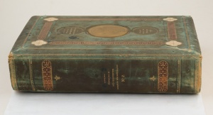 Spine - Addresses Presented to Lord Carrington Governor of New South Wales 1886 No.2, containing Colonial views, flowers, birds and insects (Courtesy of NSW State Records)