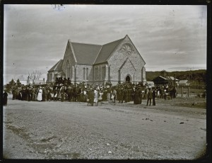 Funeral of Glebe Pit men, St Augustine's, Merewether, [3 July 1889] (Courtesy of University of Newcastle, Cultural Collections) https://www.flickr.com/photos/uon/3342977526