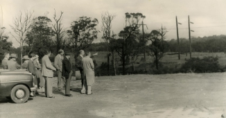 group looking over Shortland grounds