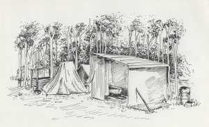 sketch of hut at Shortland