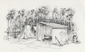 sketch of hut at Shortland