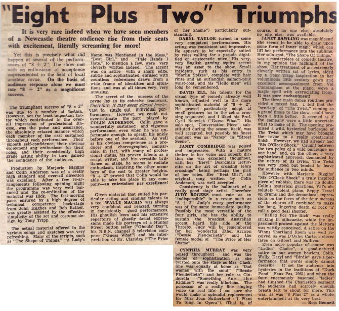 "1962 - Reviews - ""Eight Plus Two"" Trimphs (Courtesy of Robert Eather)"
