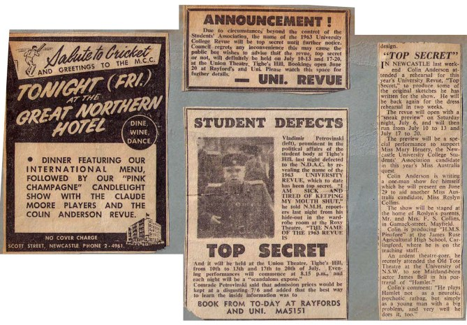 "1963 - Reviews - ""Top Secret"" (Courtesy of Robert Eather)"
