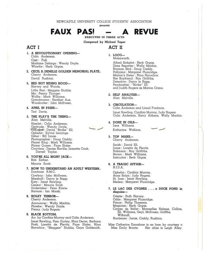 Faux Pas - A Revue