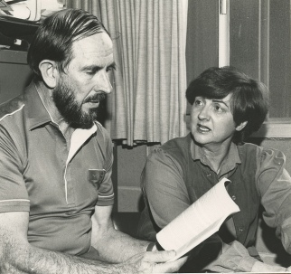 Dr. John Turner and Margaret Henry (History), the University of Newcastle, Australia - 1985