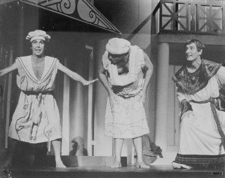 """""""A Funny Thing Happened On The Way To The Forum"""" was first performed by The Hunter Valley Theatre Company on 1 January - 1 February, 1981."""