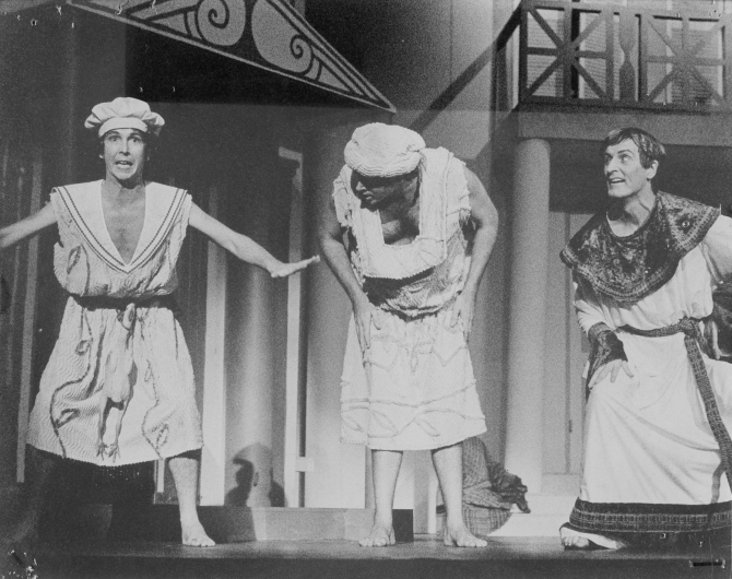 """A Funny Thing Happened On The Way To The Forum"" was first performed by The Hunter Valley Theatre Company on 1 January - 1 February, 1981."