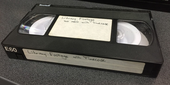 The original VHS Tape with time code.