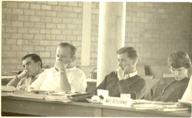 Ted Brennan as one of the Newcastle representatives at the National Union of University Students in Melbourne (Photo: Courtesy of Pam Brennan & Family)
