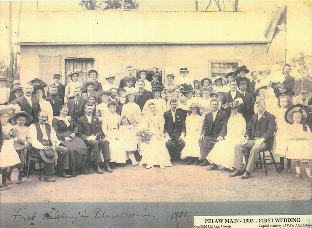 First wedding in Pelaw Main, 26 January 1903