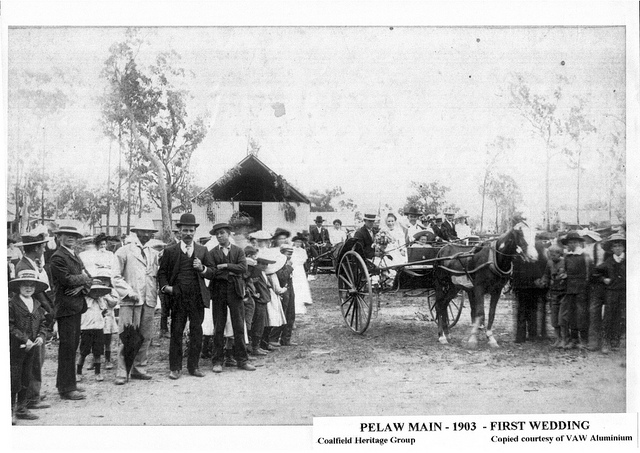 First wedding at Pelaw Main, 26 January 1903