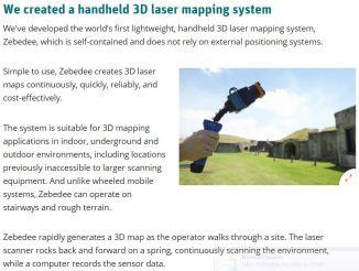 Zebedee-CSIRO Hand Held Laser Scanner
