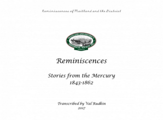 Reminiscences : Stories from the Mercury, 1843-1862