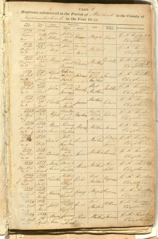 Page from Register